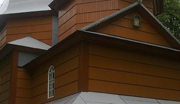 Фарбування дерев'яних фасадів